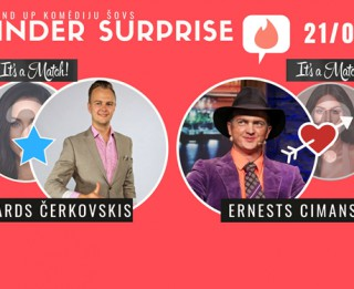 "StandUp komēdija ""Tinder Surprise"""
