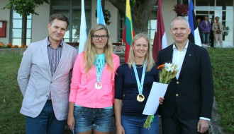 Foto: Gulbe un Zunde/Adamaitis uzvar Baltijas čempionātā airēšanā