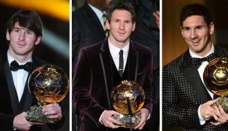 "Foto: Lionels Mesi saņem piekto ""Ballon d'Or"""