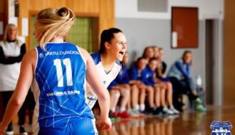 Foto: Latvijas Universitāte sezonu sāk ar drošu uzvaru pār Tartu studentēm