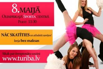 8. maijā Rīgā notiks pirmais Baltijas karsējmeiteņu čempionāts