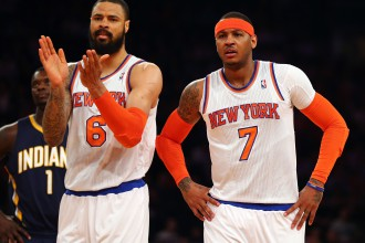 Karmelo un &quot;Knicks&quot; &lt;i&gt;bt vai nebt&lt;/i&gt; sple Indian