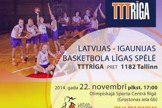 """Neuzvarēto kauja: """"TTT Rīga"""" pret """"1182 Tallinn"""""""