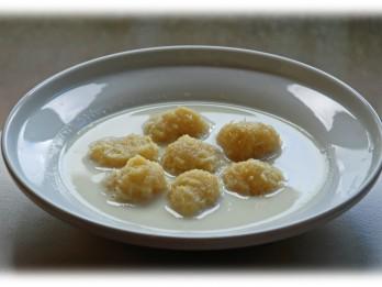 Fotorecepte- piena zupa ar kartupeļu klimpām