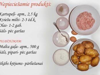 Fotorecepte: Kartupeļu bumbas ar gaļu soli pa solim