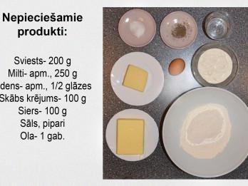 Fotorecepte: Ar sieru pildīti cepumi soli pa solim