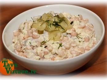 Fotorecepte: Balto pupiņu salāti ar siļķi