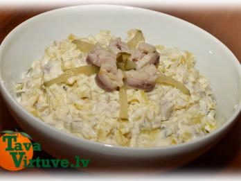 Fotorecepte: Kartupeļu un siļķu salāti