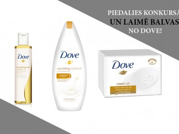 Piedalies un laimē produktus no jaunās Dove ķermeņa kopšanas līnijas Dry Oil