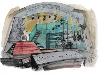 Andra Gaujas jaunajai filmai uzbūvē piecstāvu vējdzirnavas
