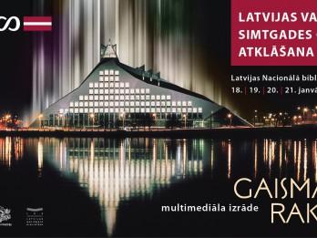 """Latvijas valsts simtgades gadu atklās multimediāla izrāde """"Gaismas raksti"""""""