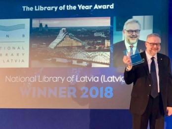 Latvijas Nacionālā bibliotēka ieguvusi Starptautisko izcilības balvu