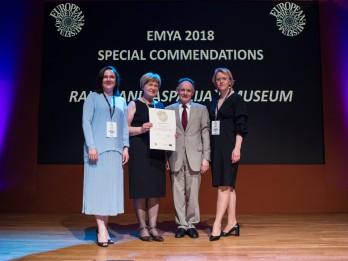 Raiņa un Aspazijas muzejs saņem Speciālo atzinību Eiropas Muzeju gada balvas konkursā