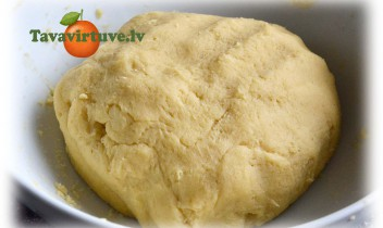 Fotorecepte: Smilšu mīklas recepte soli pa solim