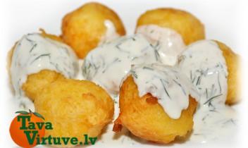 Fotorecepte: Kartupeļu bumbiņas soli pa solim