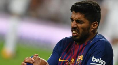 """""""Barcelona"""" un Urugvajas nedienas turpinās – savainotais Svaress izlaidīs četras nedēļas"""