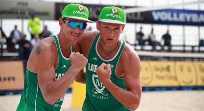 Pļaviņš un Točs uzvar divreiz, bet zaudē astotdaļfinālā Brazīlijā