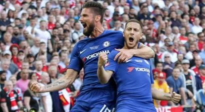 """Chelsea"" iztur ""United"" spiedienu un izcīna FA kausu"