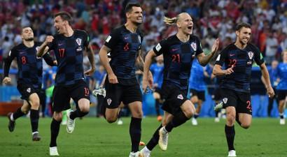 Horvātija 11 metru sitienu sērijā izdzēš Krievijas Pasaules kausa sapni