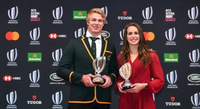 """DĀR tiek pie trim """"World Rugby"""" balvām, du Toits - gada labākais regbists"""