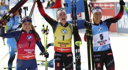 Šī kalendārā gada pēdējās PK sacensībās biatlonā dubultuzvara Norvēģijai