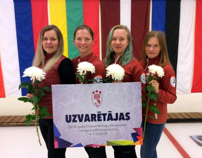 Uz Eiropas kērlinga čempionātu Tallinā dosies JKK/Staša-Šaršūnes un A41/Gulbja komandas