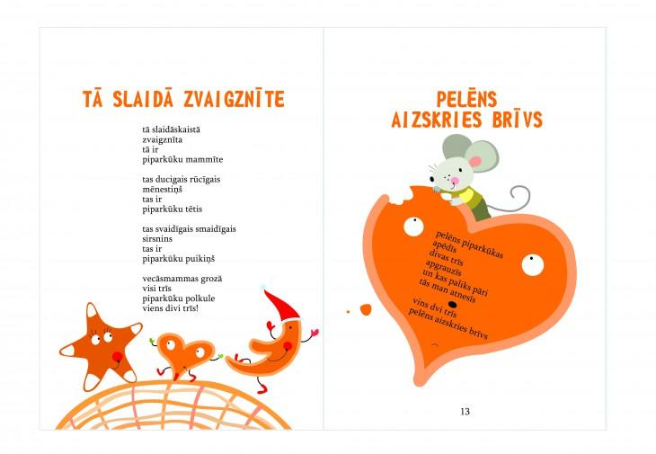 """Apgāds """"Annele"""" laidis klajā Ulda Ausekļa Ziemassvētku dzejoļu grāmatu bērniem """"Piparkūkas īkšķi tur"""""""