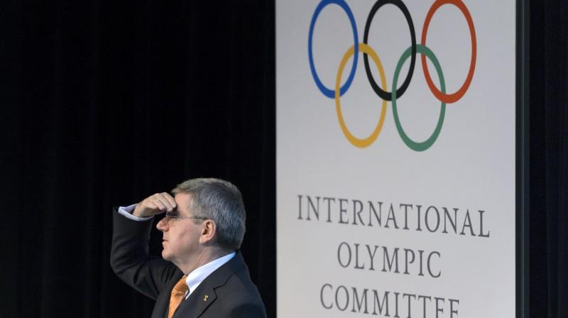 Olimpiskās komitejas prezidents Tomass Bahs  Foto: AFP / Scanpix