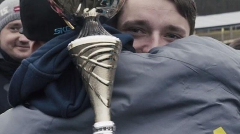 Ivo Šteinberga uzvaras prieks Foto: Ekrānuzņēmums