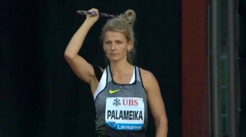 Madara Palameika met Lozannā Foto: Viasat Sport Baltic