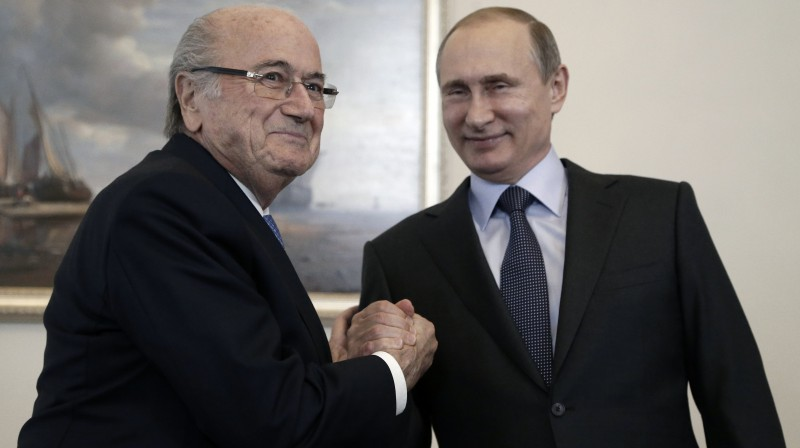 Zeps Blaters un Vladimirs Putins. Foto: AP/Scanpix