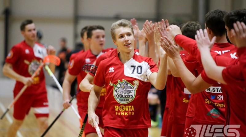 Jānis Ragovskis (Talsu NSS/Krauzers). Foto: Ritvars Raits, floorball.lv