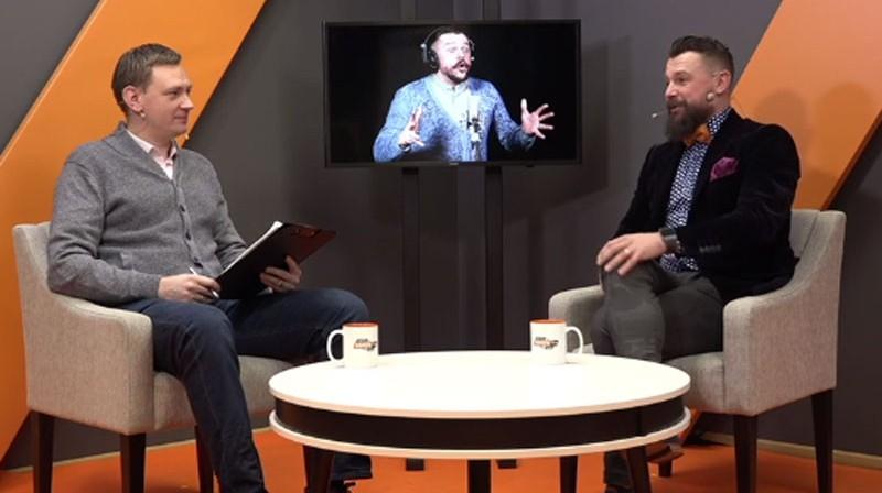 Jānis Freimanis un Armands Simsons Foto: Ekrānuzņēmums