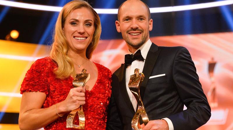 Angelika Kerbere un Patriks Lange. Foto: AFP/Scanpix