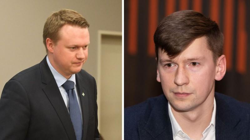 Krišjānis Kļaviņš un Maksims Krivuņecs. Foto: Romāns Kokšarovs / Vladislavs Proškins, f64