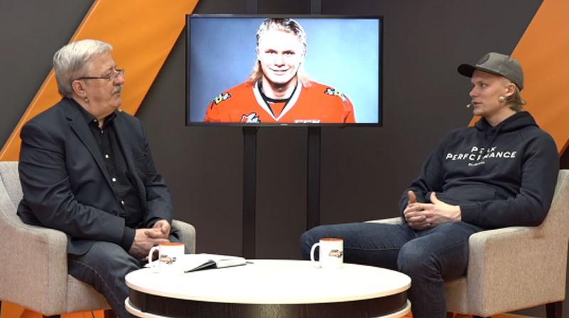 Jānis Matulis un Rodrigo Ābols. Foto: Ekrānuzņēmums