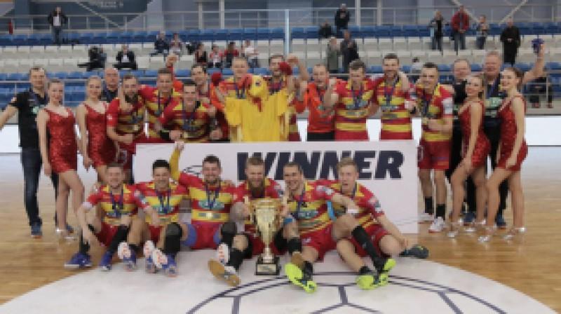 """""""Riihimaen Cocks"""" - ceturto gadu pēc kārtas Baltijas handbola līgas čempions."""