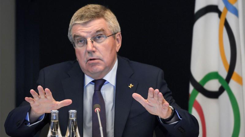 Starptautiskās Olimpiskās komitejas (SOK) prezidents Tomass Bahs. Foto: AFP/Scanpix
