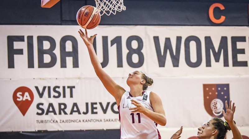 Paula Mauriņa spēlē pret Bosniju. Foto: FIBA