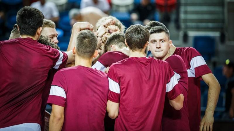 Latvijas U20 izlase. Foto: FIBA