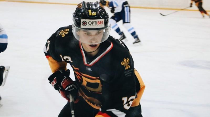 """""""Dinaburgas"""" hokejists Rolands Aleidzāns. Foto: chayka.lv"""
