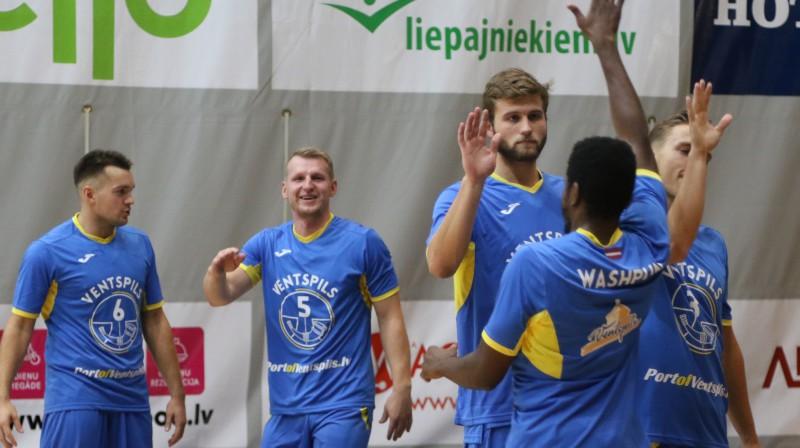 "BK ""Ventspils"" basketbolisti. Foto: Ģirts Gertsons/F64"