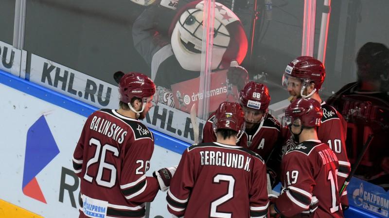 Rīgas ''Dinamo'' hokejisti. Foto: ZUMAPRESS.com/Scanpix