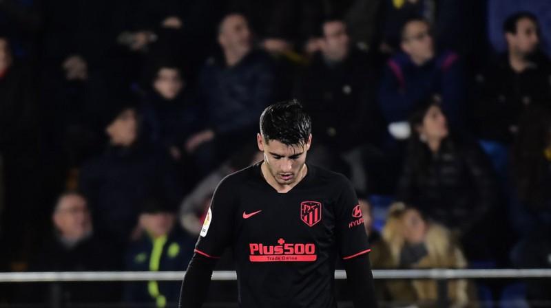 """""""Atletico"""" snaiperis Alvaro Morata. Foto: AFP / Scanpix"""