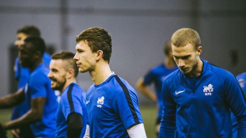 Anastasijs Mordatenko un Gļebs Kļuškins. Foto: Toms Dreiblats/FK RFS