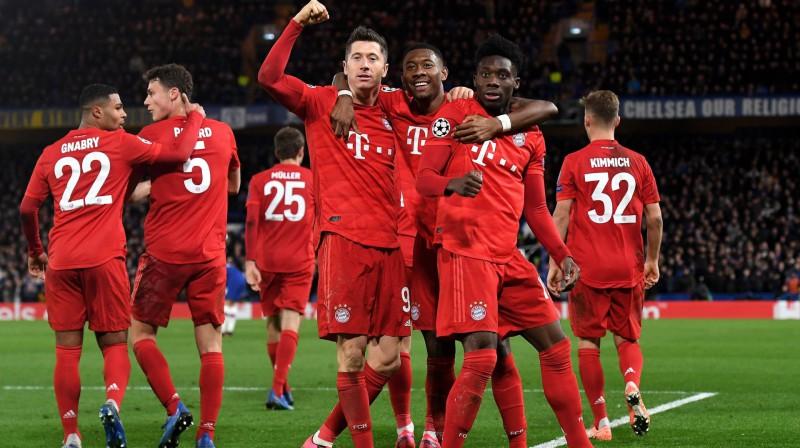"Minhenes ""Bayern"" svin vārtu guvumu. Foto: EPA/Scanpix"