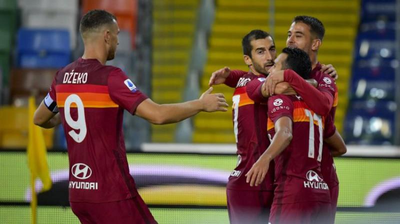 AS Roma futbolisti. Foto: La Presse/Scanpix