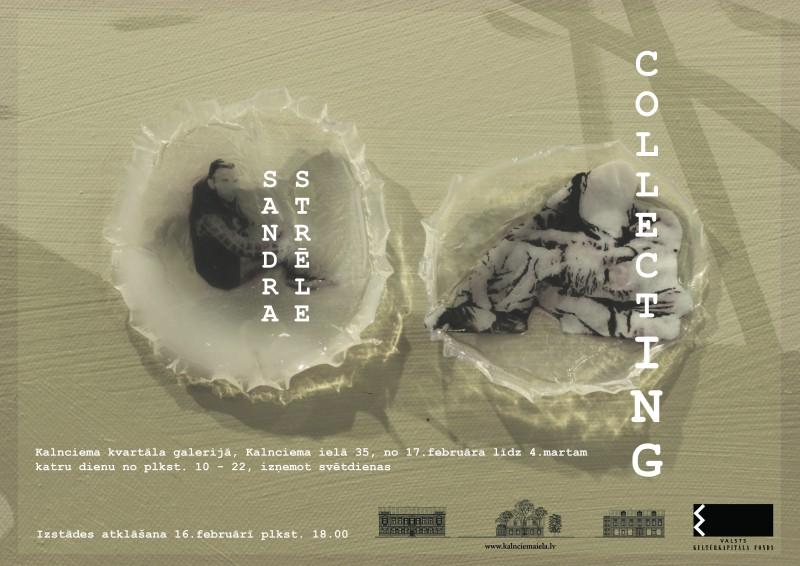 """Sandras Strēles instalācija """"COLLECTING"""" Kalnciema kvartālā"""