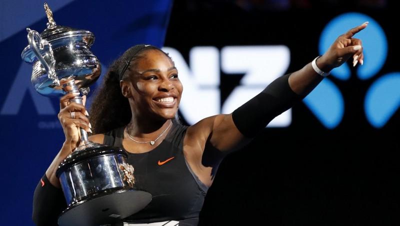 """Serēna Viljamsa Melburnā kļūst par """"Grand Slam"""" tituliem bagātāko tenisisti"""