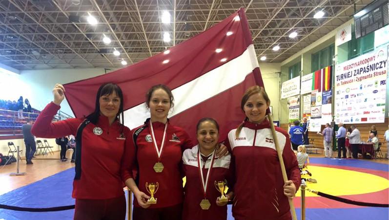 Latvijas cīņas jaunās talantes uzvar starptautiskajās sacensībās Jaunolainē